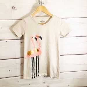J. Crew flamingo graphic tee